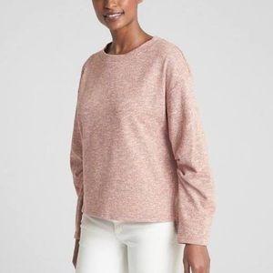 Gap Crewneck Sweatshirt-NWT-Textured Pink-Small